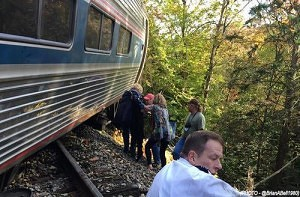 """Freak of Nature"" Blamed for Train Derailment"