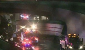 Trucks Pileup on Suburban Turnpike