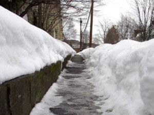 Winter Slip & Fall Warning