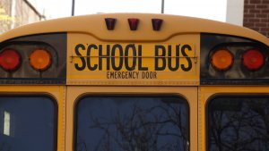 the back of a school bus, school bus accident, Dump truck school bus accident sends dozens to nj hospitals