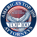 America's top 100 attorneys badge, top 100 attorneys in america award, top attorney acheivement