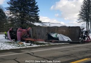 A truck crash in Conewango, NY sent several children to area hospitals